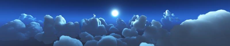 Puesta del sol hermosa sobre las nubes Imágenes de archivo libres de regalías