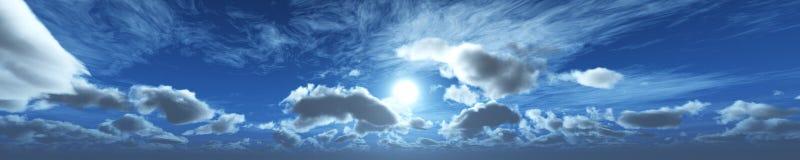 Puesta del sol hermosa sobre las nubes Fotos de archivo