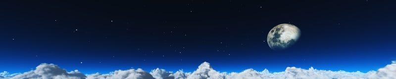Puesta del sol hermosa sobre las nubes Imagen de archivo