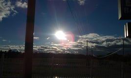 Puesta del sol Hermoso Imagen de archivo