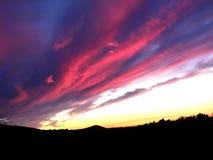 Puesta del sol hola-Def: Rastros en la reserva de Chamna, Yakima River Delta, Tri ciudades, WA Fotos de archivo