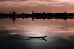 Puesta del sol holandesa Foto de archivo libre de regalías