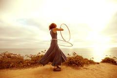 Puesta del sol Hooper Imagen de archivo libre de regalías