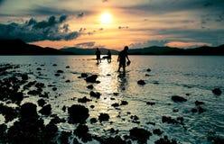 Puesta del sol - hora de ir a casa Imágenes de archivo libres de regalías