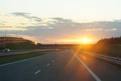 Puesta del sol/horizonte Fotos de archivo libres de regalías