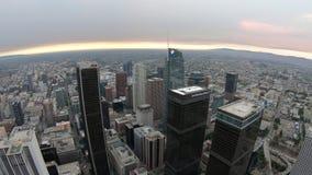 Puesta del sol del horizonte de Los Ángeles metrajes