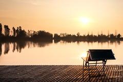 Puesta del sol ideal Foto de archivo libre de regalías