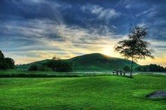 Puesta del sol idílica Foto de archivo libre de regalías