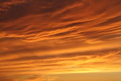 Puesta del sol imponente Imagenes de archivo