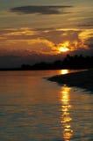 Puesta del sol imponente en Key West Imágenes de archivo libres de regalías