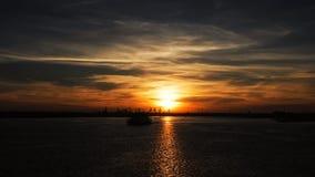 Puesta del sol impresionante Fotos de archivo
