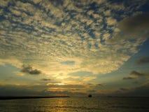 Puesta del sol impresionante en Gaoxiong en Taiwán Fotografía de archivo