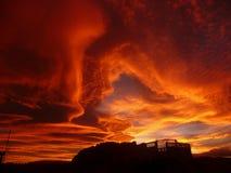 Puesta del sol increíble Fotografía de archivo libre de regalías