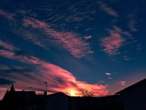 Puesta del sol increíble Imagen de archivo