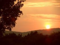 Puesta del sol inolvidable Imágenes de archivo libres de regalías