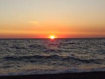 Puesta del sol inolvidable Imagen de archivo libre de regalías