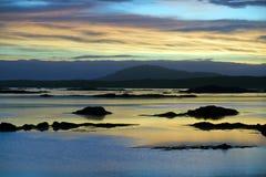 Puesta del sol irlandesa Fotos de archivo libres de regalías