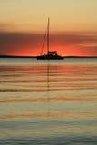 Puesta del sol - isla de Fraser, la UNESCO, Australia Fotos de archivo