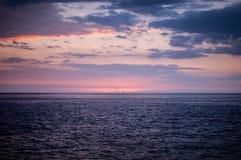 Puesta del sol - isla grande Fotografía de archivo