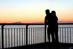 Puesta del sol Italia de Sorrento imagen de archivo libre de regalías