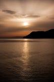 Puesta del sol italiana Fotos de archivo libres de regalías
