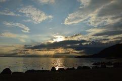 Puesta del sol italiana Imágenes de archivo libres de regalías