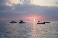 Puesta del sol jamaicana Fotos de archivo