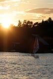 Puesta del sol Klubben Foto de archivo libre de regalías