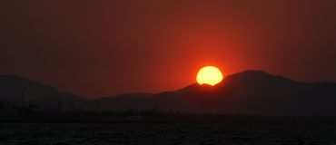 Puesta del sol Kos imagen de archivo libre de regalías