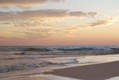 Puesta del sol la Florida Pan Handle de la playa foto de archivo