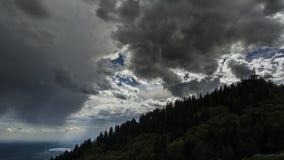 Puesta del sol, lago de Varese metrajes