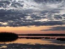 Puesta del sol del lago del ` s de Newnan Foto de archivo libre de regalías
