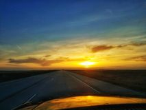 Puesta del sol a lo largo de I70 Imagen de archivo