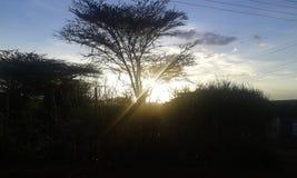 Puesta del sol a lo largo de la correa del baragoi Fotografía de archivo libre de regalías