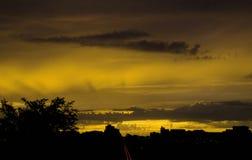 Puesta del sol loca Imagenes de archivo