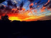 Puesta del sol loca foto de archivo libre de regalías