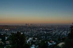 Puesta del sol Los Ángeles Imagenes de archivo