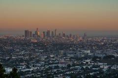 Puesta del sol Los Ángeles Foto de archivo