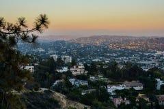 Puesta del sol Los Ángeles Foto de archivo libre de regalías
