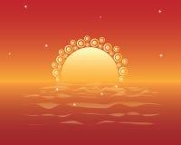 Puesta del sol mágica Imágenes de archivo libres de regalías