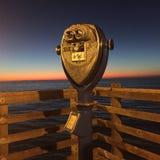 Puesta del sol magnífica Foto de archivo libre de regalías