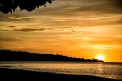 Puesta del sol magnífica Imagenes de archivo