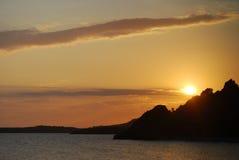 Puesta del sol maravillosa Imágenes de archivo libres de regalías