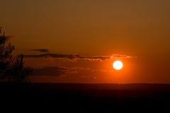 Puesta del sol maravillosa 2 Imágenes de archivo libres de regalías