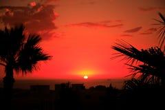 Puesta del sol marroquí Foto de archivo libre de regalías