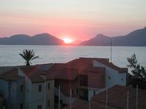 Puesta del sol mediterránea fotografía de archivo libre de regalías
