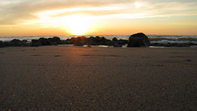 Puesta del sol mediterránea Imagen de archivo