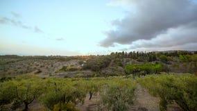 Puesta del sol mediterránea del verano almacen de video