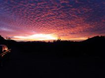 Puesta del sol Melipilla foto de archivo libre de regalías