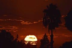 Puesta del sol meridional de California fotos de archivo libres de regalías